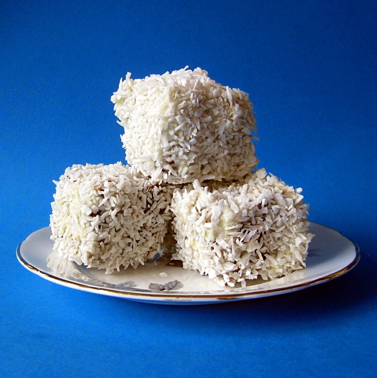 White Chocolate Gingerbread Lamingtons