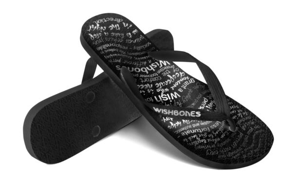 #Wishbones the high quality natural rubber flip flop with a social conscience. Every purchase means another pair to someone in need #WearHappiness #Indiegogo
