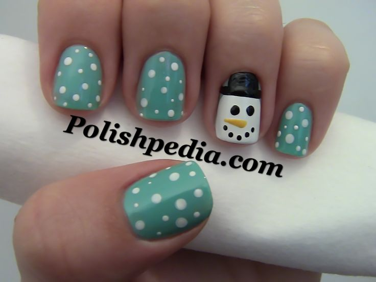 snow man nails | Snowman Christmas Nail Design | Polishpedia