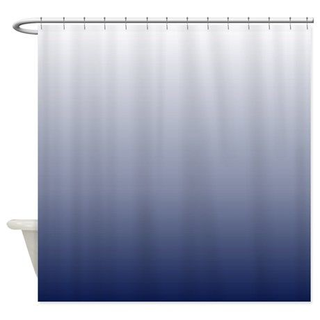 Ombre Navy Blue Shower Curtain