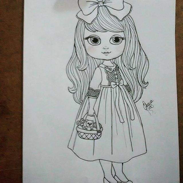 doll, boneca, scketch, draw, drawing , design, cute, cutedesign, littlegirl, illustration, desenho, rabisco, lapis, art
