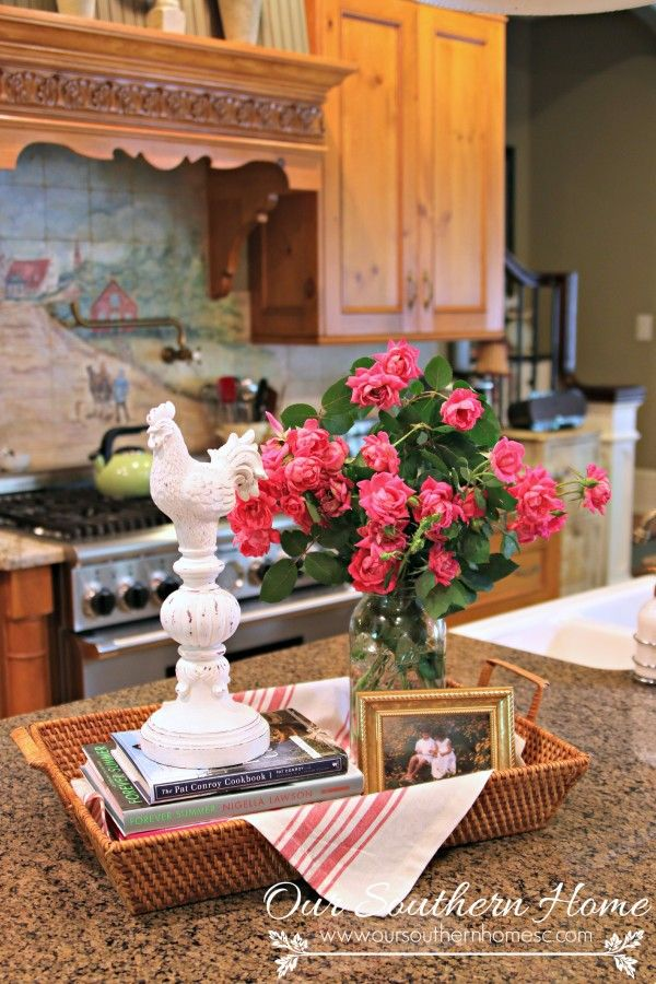 Summer in the kitchen by Our Southern Home. Decorating inspriation for summer.