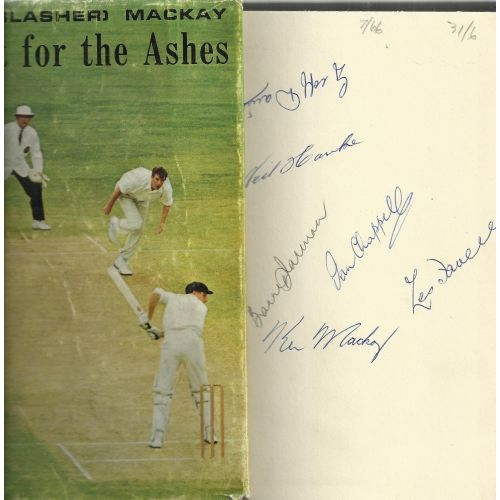 Quest For The Ashes by Ken MacKay SIGNED Cricket