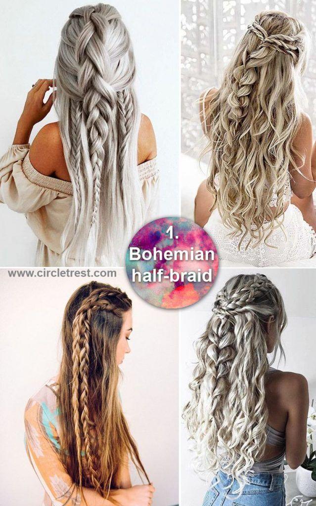 34+ Long hair bohemian braids trends