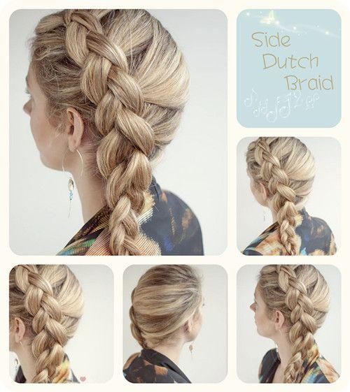 easy side dutch braid hairstyle summer 2013