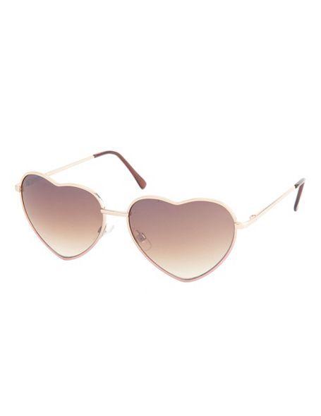 Dip-Dye Heart-Shaped Sunglasses: Charlotte Russe