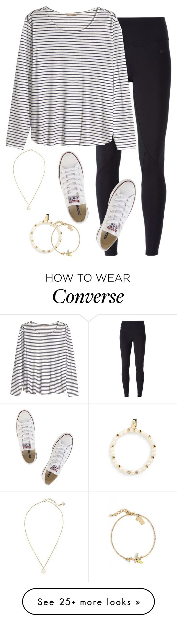 """Never take advantage of life, it can be takin away from you in a blink of an eye"" by keileeen on Polyvore featuring NIKE, H&M, Converse, Kendra Scott and Kate Spade"