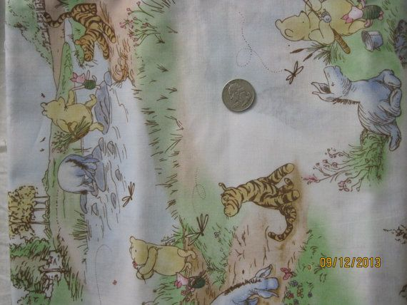 Classic Winnie The Pooh Fabric By Perfectlycoordinated On