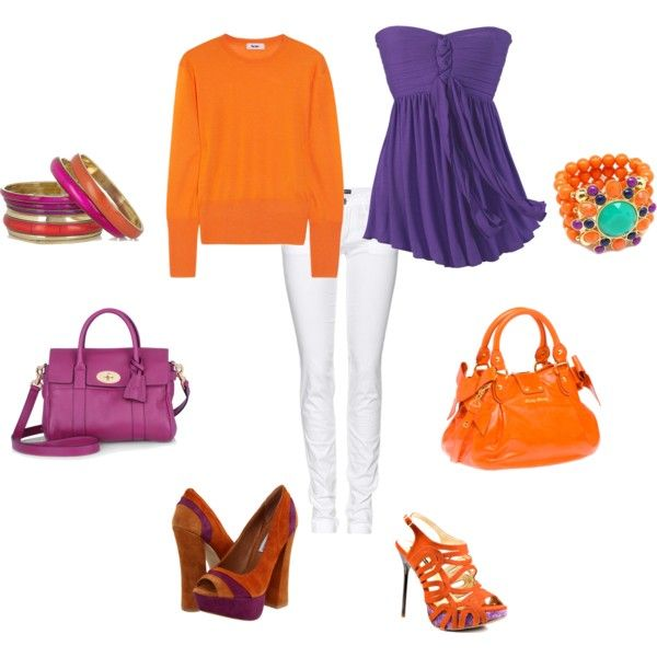 Clemson game, created by ashleycowden on Polyvore