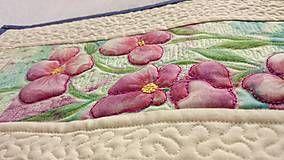 Obrázky - Textilný obraz - kvetná nálada - 7107478_