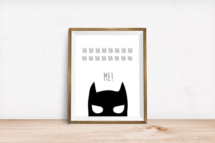 Batman printable, cute batman print, kids batman print, monochromatic batman print, wall print, digital download, superhero print by LittleLiefCreative on Etsy https://www.etsy.com/listing/253236879/batman-printable-cute-batman-print-kids