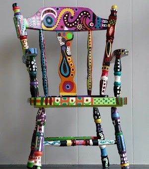 I want to do this over the summer!!!painted furniture amazing chair