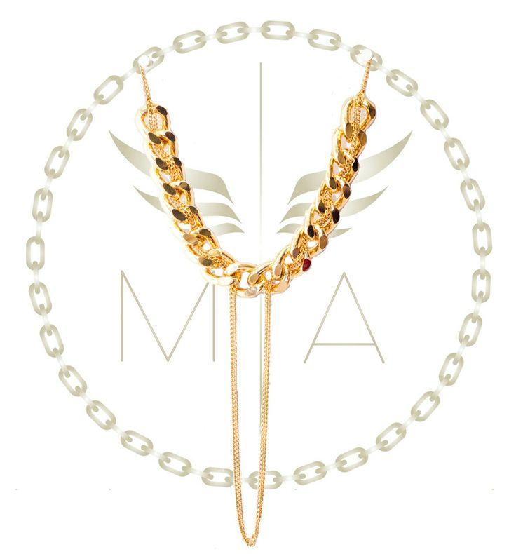 Collar dorado by #meryangel #accesorios #moda #collar #estilo #fashion #new #necklace #style #diseñocolombiano #bogota #colombia
