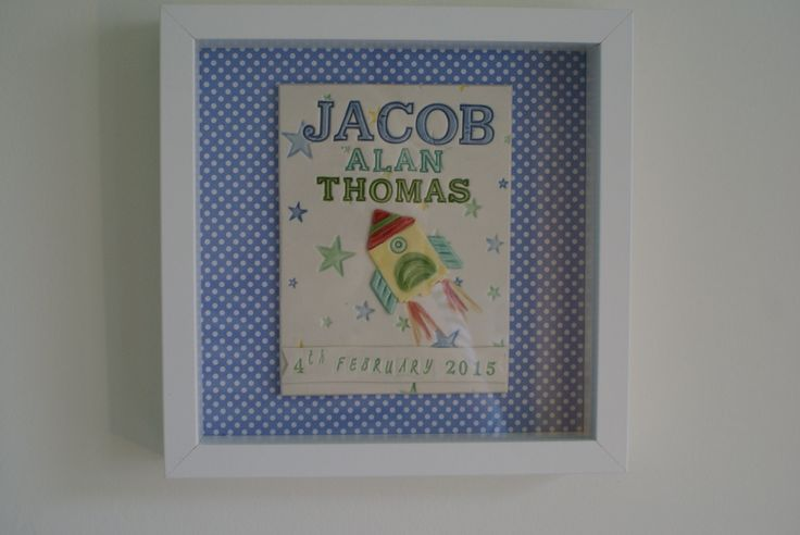 Framed Porcelain Birth Plaque