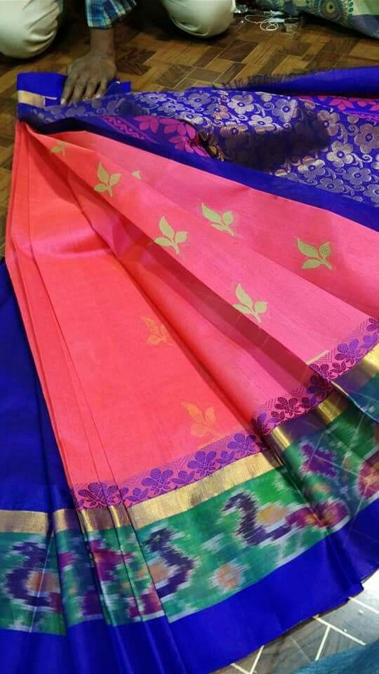 de0392e690 Pochampally border kuppadam sarees Price:5300 Order what's app 7995736811