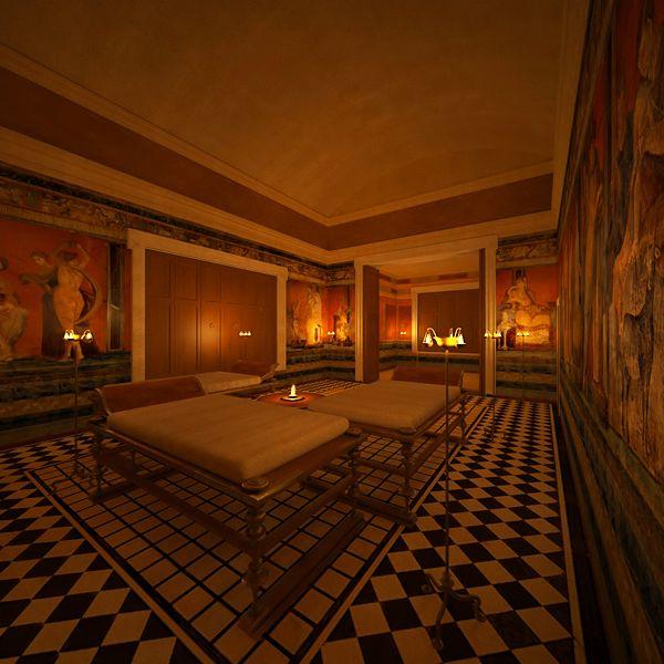 Villa reconstruction 1— Pompeii, Italy. on Behance. Villa of the Mysteries, Pompeii Computer reconstruction