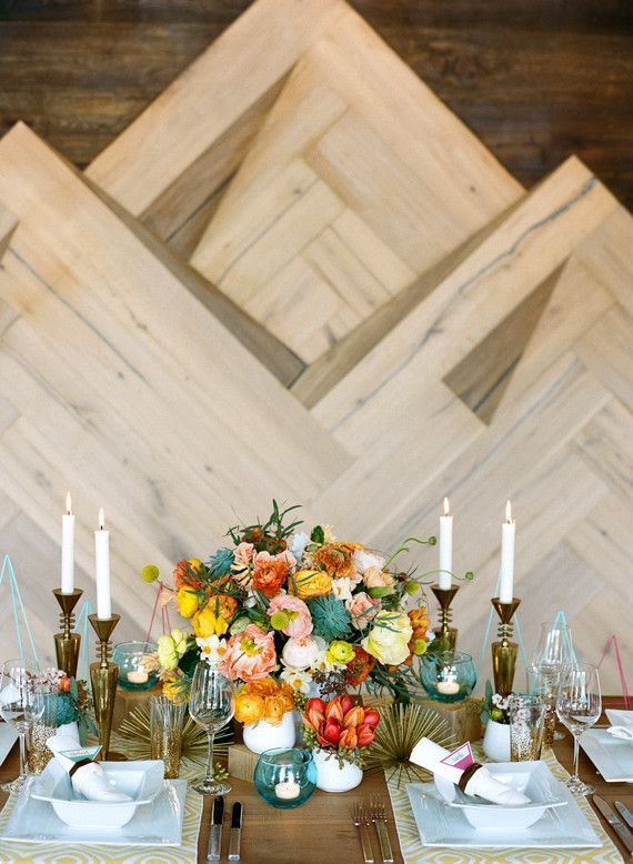 Mid-century modern wedding inspiration | 100 Layer Cake | Bloglovin'