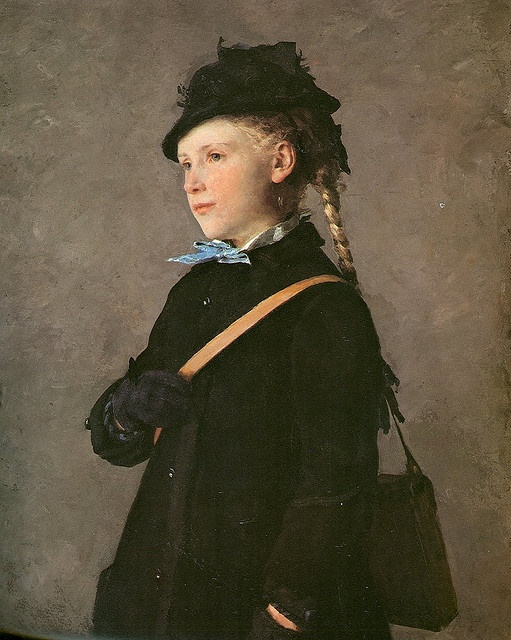 """Marie Anker"" 1881. Albert Anker (1831-1910), Swiss painter."
