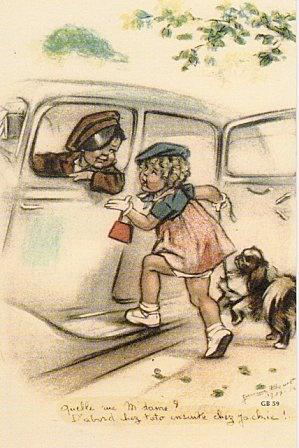 """Germaine Bouret """"- Quelle rue, Madame ? -D'abord chez Toto, ensuite chez Jackie ! """""""