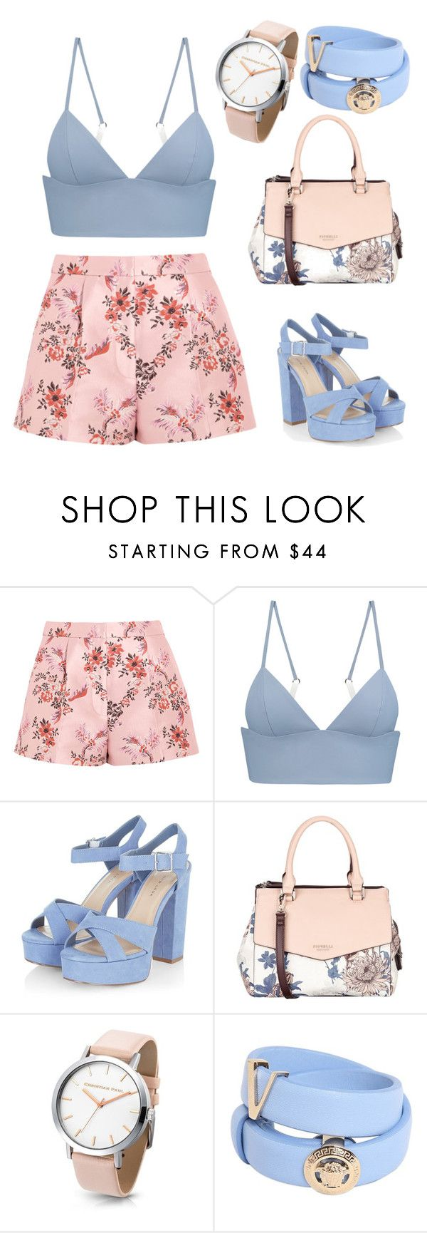 """Untitled #28"" by liszaunicorn ❤ liked on Polyvore featuring STELLA McCARTNEY, T By Alexander Wang, Fiorelli, Versace and printedshorts"