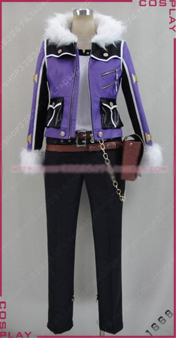 Hot Game Anime Movie God Eater 2 Gilbert McLain Cosplay Costume Purple Coat Black Pants Free Shipping #Affiliate