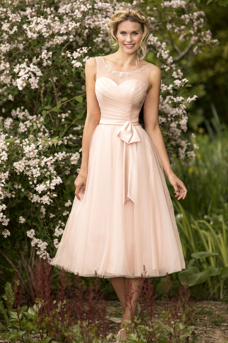 129 best b r i d e s m a i d s images on pinterest a lineprincess scoop neckline lace pink tulle tea length bridesmaid dress ombrellifo Gallery