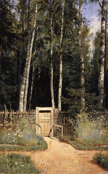 Укалитки. Сиверская 1874-1883 55х34. Иван Иванович Шишкин