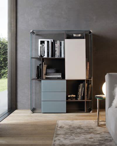 Низкий книжный шкаф / высокий / современный / из ясеня MOVIE W 11 Gallotti&Radice