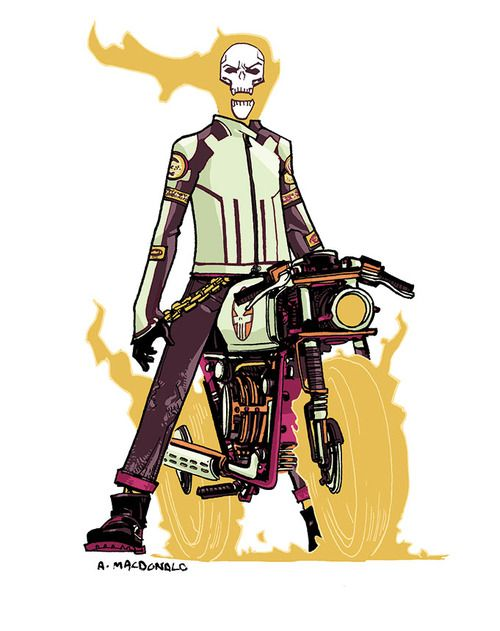Ghost Rider by Andy Macdonald