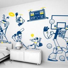 éléments décoratifs pour un thème de chambre robot