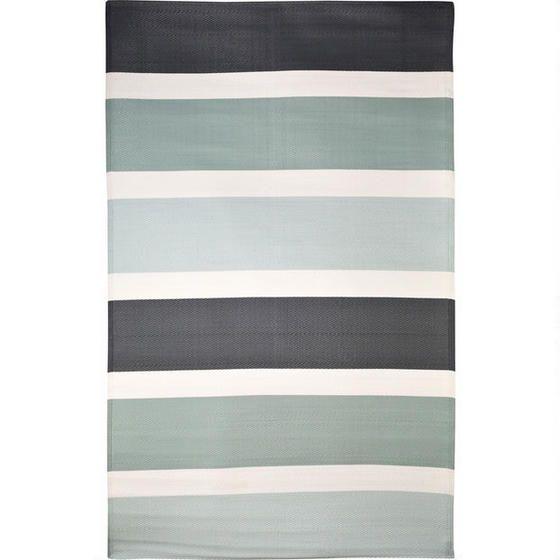 Miami Stripe Outdoor Rug - Grey