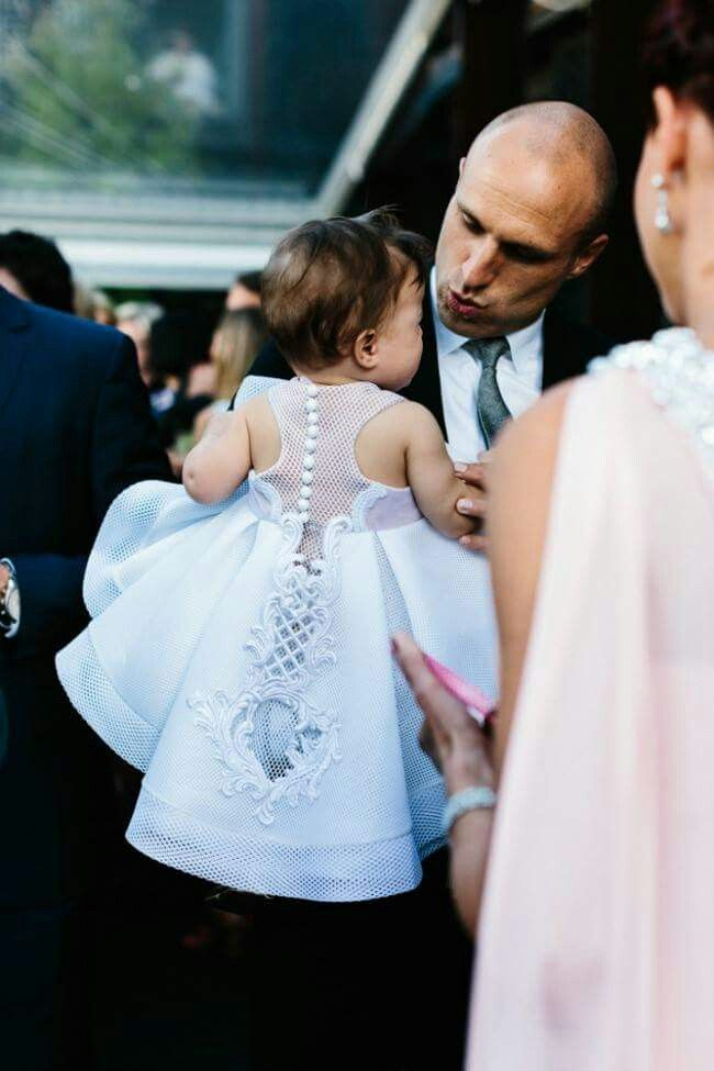 J'Aton Couture baby gown