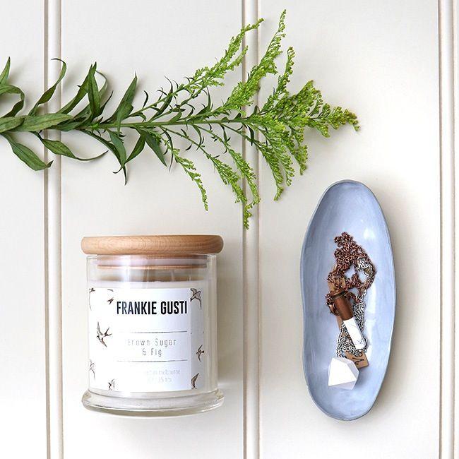 Frankie Gusti Soy Candle | Wendy June Ceramics | Sylvia Rose Jewellery | Vessel & Vine | Shop online at www.daisychainstore.com.au