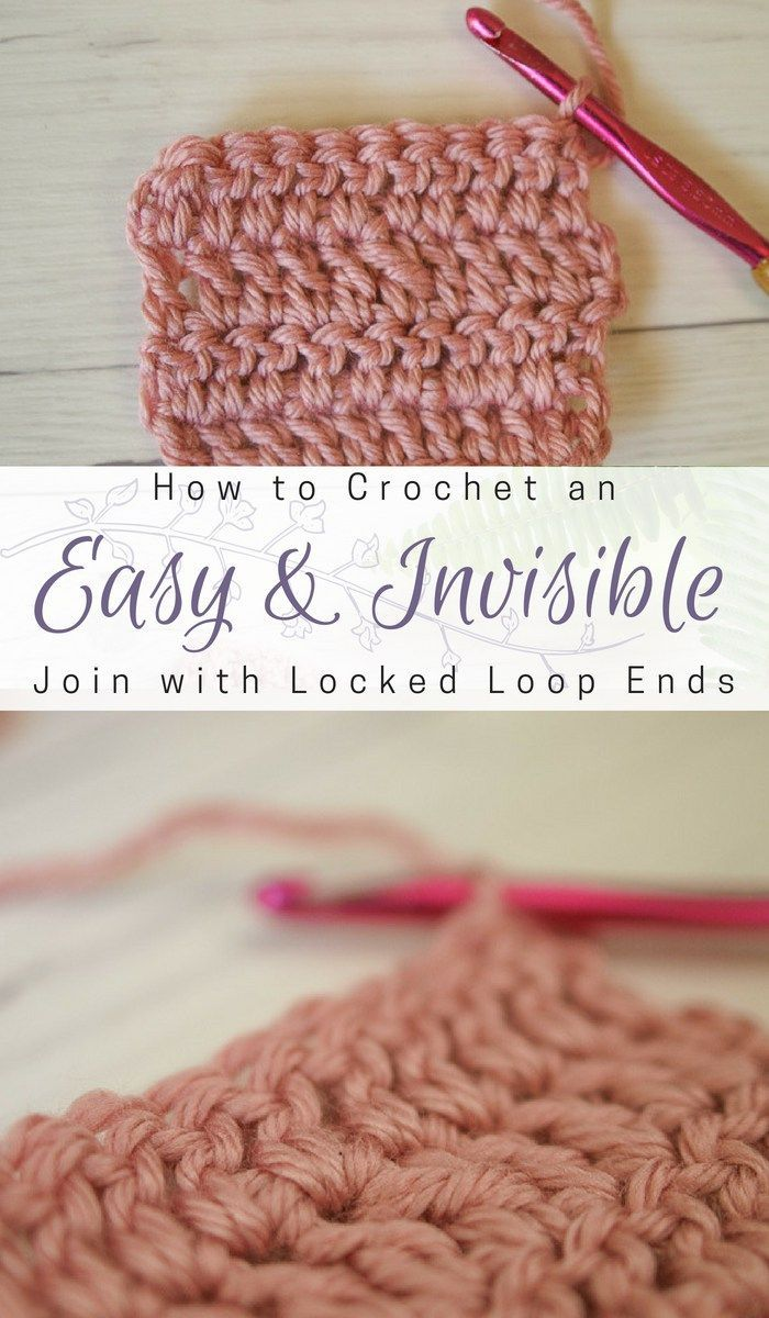 How to Join New Yarn in Crochet Invisibly with Locked Loop Ends ...