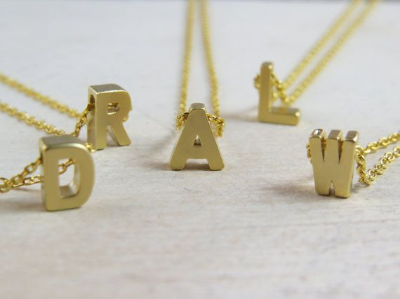 Find More Pendants Information about Custom bridesmaid gift, Matte gold initial necklace, personalized necklace, bridesmaid gift, letter necklace, monogram,High Quality necklace usb flash drive,China gift items for car Suppliers, Cheap necklace opal from City lovers Liu Yanxia on Aliexpress.com