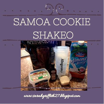 got nothing on me and this fun shakeo recipe!! Samoa Girl Scout Cookie ...
