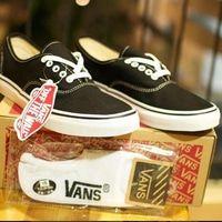 Sepatu Vans Authentic Black White Premium Quality