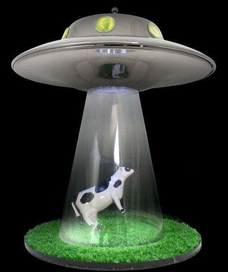 Alien Abduction Lamp Alien Abduction Night Light Cow