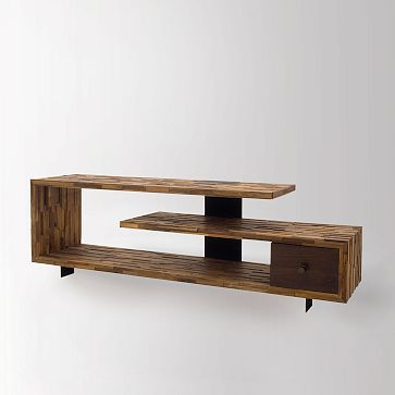 Staggered Wood Console #westelm  tv allowed or not allowed  in the bedroom? #anthropologie #pintowin