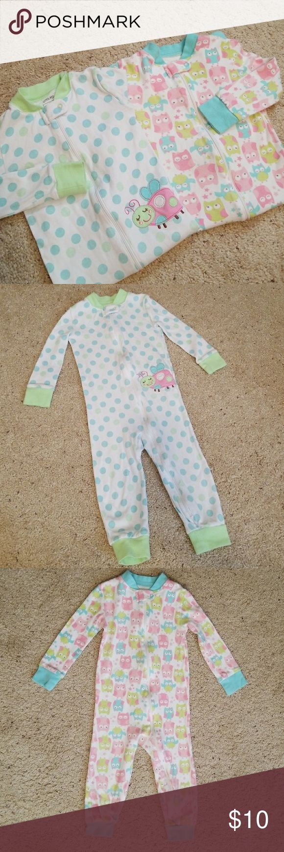 ✌Two Toddler PJ Onesies (Bundled) Cute and adorable Little Me onesies (two bundled), size 3T, pre-owned and in excellent condition (like new). Little Me One Pieces