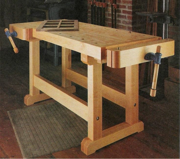 how to make a wooden workbench