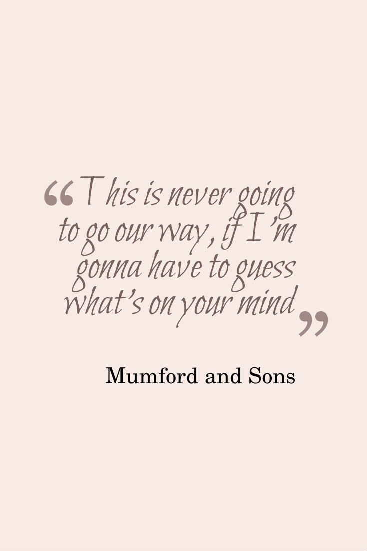 Mumford lyrics