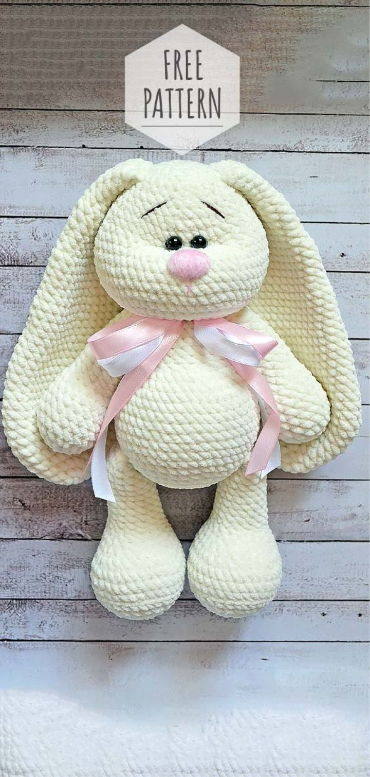 Amigurumi Soft Bunny Pattern. Could be done but would take a lot of work to tran...