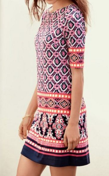 print jersey shift dress More