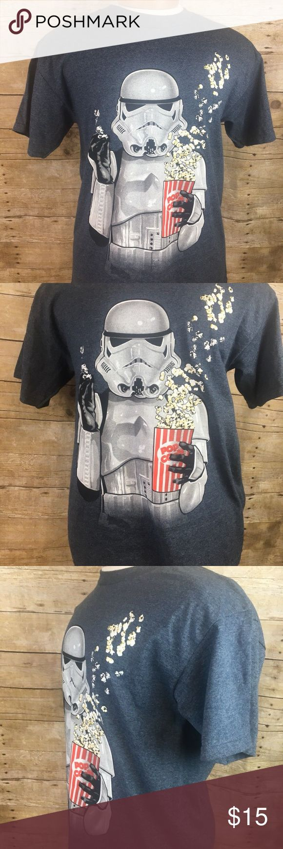 Star Wars Storm Trooper Holding Popcorn Tshirt Star