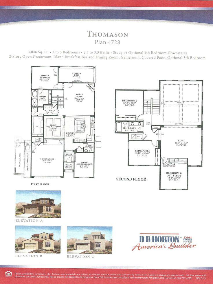 DR Horton Thomason Floor Plan Via NMHomeTeam.com