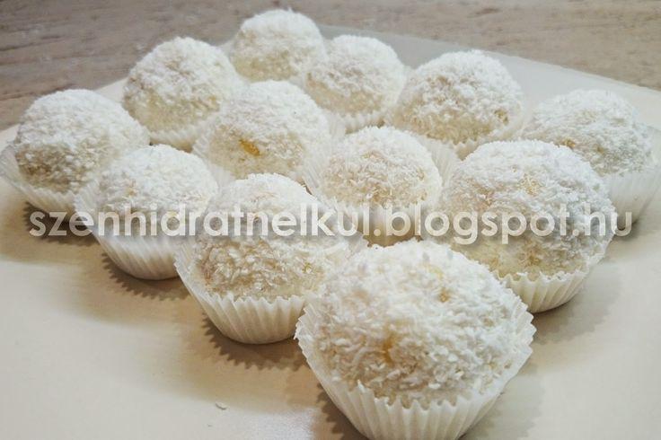 Kókuszgolyó, avagy diétás túrós Raffaello