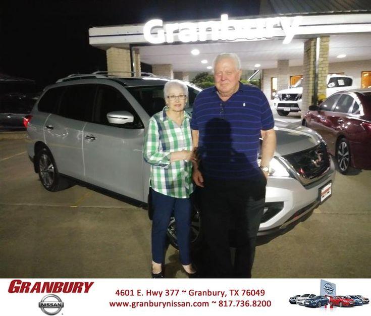 Congratulations Jim N Carolynn on your #Nissan #Pathfinder from Greg Dowler at Granbury Nissan!  https://deliverymaxx.com/DealerReviews.aspx?DealerCode=G586  #GranburyNissan