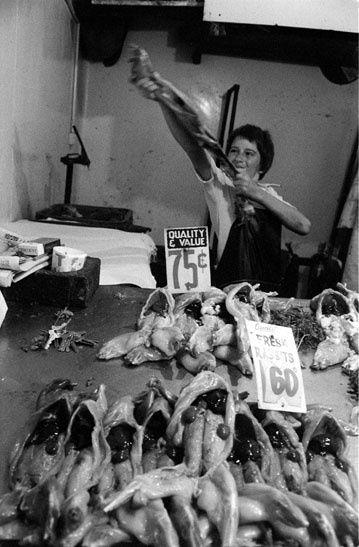 Rabbit skinner, Victoria Market c.1970 | Rennie Ellis Photographic Archive