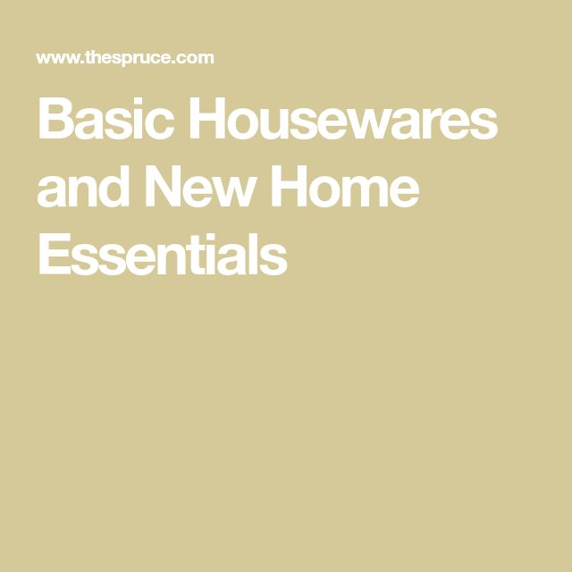 Basic Housewares and New Home Essentials